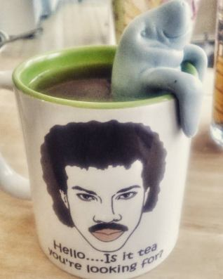 From my personal collection. You can purchase both the Lionel Richie Mug and the Mana-Tea Infuser on Amazon!